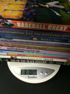 These 10 books weigh 3 lbs, so boxing and shipping them would cost about $4.00 (using USPS media mail).